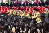 Trooping the Colour 2011: The Mounted Bands of the Household Cavalry playing during the Ride Past.. Horse Guards Parade, Westminster, London SW1, Greater London, United Kingdom, on 11 June 2011 at 11:54, image #322