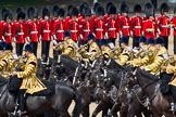 Trooping the Colour 2011: The Mounted Bands of the Household Cavalry playing during the Ride Past.. Horse Guards Parade, Westminster, London SW1, Greater London, United Kingdom, on 11 June 2011 at 11:54, image #324