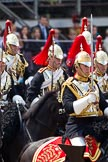 Trooping the Colour 2011: Household Cavalry, here The Blues and Royals, during the Ride Past.. Horse Guards Parade, Westminster, London SW1, Greater London, United Kingdom, on 11 June 2011 at 11:59, image #366
