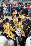 Trooping the Colour 2011: The Mounted Bands of the Household Cavalry during the March Past.. Horse Guards Parade, Westminster, London SW1, Greater London, United Kingdom, on 11 June 2011 at 12:00, image #373