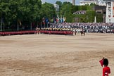 Trooping the Colour 2011: March Off. The Mounted Bands of the Household Cavalry about to leave Horse Guards Parade.. Horse Guards Parade, Westminster, London SW1, Greater London, United Kingdom, on 11 June 2011 at 12:03, image #383