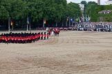 Trooping the Colour 2011: The March Off. Following the Massed Bands and the Royal Procession, the six guard divisions are about to leave the parade ground.. Horse Guards Parade, Westminster, London SW1, Greater London, United Kingdom, on 11 June 2011 at 12:11, image #423