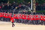 Trooping the Colour 2011: No. 5 Guard, 1st Battalion Welsh Guards, marching onto Horse Guards Parade. Image #33, 11 June 2011 10:26 Horse Guards Parade, London, UK