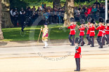 Trooping the Colour 2011: Drum Major Stephen Staite, Grenadier Guards, leading the Band of the Grenadier Guards to the parade ground. Image #37, 11 June 2011 10:27 Horse Guards Parade, London, UK