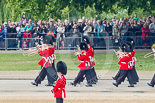 Trooping the Colour 2011: The Band of the Grenadier Guards on the way to the parade ground, in front of spectators wtaching from St. James's Park. Image #39, 11 June 2011 10:28 Horse Guards Parade, London, UK