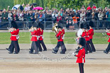 Trooping the Colour 2011: The Band of the Scots Guards, marching on Horse Guards Road, before turning onto Horse Guards Parade. Image #47, 11 June 2011 10:30 Horse Guards Parade, London, UK