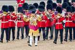 Trooping the Colour 2011: Drum Major Alan Harvey,  Irish Guards, leading the Band of the Scots Guardsont Horse Guards Parade. Image #50, 11 June 2011 10:31 Horse Guards Parade, London, UK