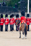 Trooping the Colour 2011: The Field Officer in Brigade Waiting, Lieutenant Colonel Lincoln P M Jopp, in front of No. 2 Guard, B Company Scots Guards. Image #72, 11 June 2011 10:42 Horse Guards Parade, London, UK