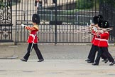 The Colonel's Review 2012: The Band of the Welsh Guards marching along the St James's Park side of Horse Guards Parade, led by Senior Drum Major M Betts, Grenadier Guards.. Horse Guards Parade, Westminster, London SW1,  United Kingdom, on 09 June 2012 at 10:11, image #17