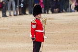 The Colonel's Review 2012: A sergeant from the Band of the Welsh Guards is marking the position on Horse Guards Parade for the first of the Massed Bands to arrive.. Horse Guards Parade, Westminster, London SW1,  United Kingdom, on 09 June 2012 at 10:12, image #21
