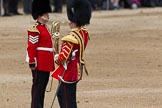 The Colonel's Review 2012: The first of the Massed Bands arriving at Horse Guards Parade - the Band of the Welsh Guards, led by Seniour Drum Major M Betts, Grenadier Guards.. Horse Guards Parade, Westminster, London SW1,  United Kingdom, on 09 June 2012 at 10:12, image #22