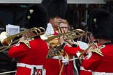 The Colonel's Review 2012: Getting into position on the parade ground - Senior Drum Major M Betts and the Band of the Welsh Guards. Horse Guards Parade, Westminster, London SW1,  United Kingdom, on 09 June 2012 at 10:12, image #23