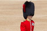 The Colonel's Review 2012: Close-up of a Major (G W J Lock?) of No. 3 Guard (No. 7 Company, Coldstream Guards) crossing Horse Guards Parade.. Horse Guards Parade, Westminster, London SW1,  United Kingdom, on 09 June 2012 at 10:14, image #27