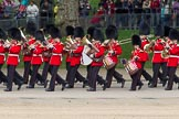 The Colonel's Review 2012: The Band of the Scots Guards arriving at Horse Guards Parade.. Horse Guards Parade, Westminster, London SW1,  United Kingdom, on 09 June 2012 at 10:14, image #29