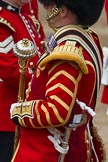 The Colonel's Review 2012: A Close-up view of the State Uniform and the attention to detail - here Drum Major T Taylor, No. 7 Company Coldstream Guards.. Horse Guards Parade, Westminster, London SW1,  United Kingdom, on 09 June 2012 at 10:16, image #33
