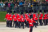 The Colonel's Review 2012: No. 5 Guard (1st Battalion Irish Guards) arriving at Horse Guards Parade.. Horse Guards Parade, Westminster, London SW1,  United Kingdom, on 09 June 2012 at 10:22, image #45