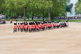 The Colonel's Review 2012: The Band of the Irish Guards getting into position at Horse Guards Parade, in the background St James's Park.. Horse Guards Parade, Westminster, London SW1,  United Kingdom, on 09 June 2012 at 10:23, image #51