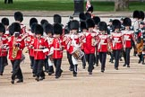 The Colonel's Review 2012: The Band of the Irish Guards getting into position at Horse Guards Parade.. Horse Guards Parade, Westminster, London SW1,  United Kingdom, on 09 June 2012 at 10:23, image #52