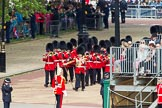 The Colonel's Review 2012: The Band of the Grenadier Guards on their way from the Mall towards Horse Guards Parade, led by Drum Major Stephen Staite.. Horse Guards Parade, Westminster, London SW1,  United Kingdom, on 09 June 2012 at 10:25, image #57