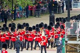 The Colonel's Review 2012: No. 4 Guard (Nijmegen Company Grenadier Guards) marching towards Horse Guards Parade behind the Band of the Grenadier Guards.. Horse Guards Parade, Westminster, London SW1,  United Kingdom, on 09 June 2012 at 10:25, image #58