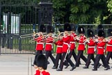 The Colonel's Review 2012: The Band of the Grenadier Guards marching along St James's Park.. Horse Guards Parade, Westminster, London SW1,  United Kingdom, on 09 June 2012 at 10:26, image #61