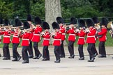 The Colonel's Review 2012: The Band of the Coldstream Guards, marching along the Northern line of Horse Guards Parade, along St James's Park.. Horse Guards Parade, Westminster, London SW1,  United Kingdom, on 09 June 2012 at 10:29, image #73