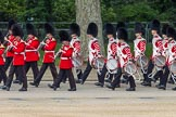 The Colonel's Review 2012: The Band of the Coldstream Guards, marching along the Northern line of Horse Guards Parade, along St James's Park.. Horse Guards Parade, Westminster, London SW1,  United Kingdom, on 09 June 2012 at 10:29, image #74