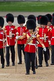 The Colonel's Review 2012: Drum Major S Fizgerald, Coldstream Guards, leading the Band of the Coldstream Guards onto Horse Guards Parade.. Horse Guards Parade, Westminster, London SW1,  United Kingdom, on 09 June 2012 at 10:30, image #80