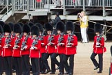 The Colonel's Review 2012: No. 6 Guard, F Company Scots Guards, in their initial position next to the Colour.. Horse Guards Parade, Westminster, London SW1,  United Kingdom, on 09 June 2012 at 10:35, image #93