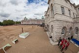 The Colonel's Review 2012: A very wide angle overview of Horse Guards Parade, with the Old Admirality Building on the left.. Horse Guards Parade, Westminster, London SW1,  United Kingdom, on 09 June 2012 at 10:45, image #116