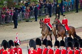 The Colonel's Review 2012: The arrival of the first members of the Royal family. leading the way two Liveried Grooms from the Royal Mews.. Horse Guards Parade, Westminster, London SW1,  United Kingdom, on 09 June 2012 at 10:48, image #118