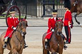 The Colonel's Review 2012: The arrival of the first members of the Royal family. leading the way two Liveried Grooms from the Royal Mews.. Horse Guards Parade, Westminster, London SW1,  United Kingdom, on 09 June 2012 at 10:48, image #119