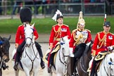 The Colonel's Review 2012: In the centre Major General Commanding the Household Division and General Officer Commanding London District Major General G P R Norton.. Horse Guards Parade, Westminster, London SW1,  United Kingdom, on 09 June 2012 at 11:04, image #196