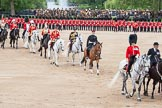 "The Colonel's Review 2012: The ""Royal Procession"" returning from the Inspection of the Line.. Horse Guards Parade, Westminster, London SW1,  United Kingdom, on 09 June 2012 at 11:05, image #200"