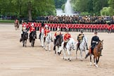 "The Colonel's Review 2012: The ""Royal Procession"" returning from the Inspection of the Line.. Horse Guards Parade, Westminster, London SW1,  United Kingdom, on 09 June 2012 at 11:05, image #201"