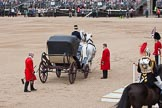 "The Colonel's Review 2012: If this wouldn't be a rehearsal, HM The Queen would now leave the carriage towards the saluting stand. The gentleman on the left carries the ""brakes"" for the carriage.. Horse Guards Parade, Westminster, London SW1,  United Kingdom, on 09 June 2012 at 11:05, image #202"