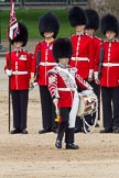 "The Colonel's Review 2012: The ""lone drummer"" marching towards the Colour.. Horse Guards Parade, Westminster, London SW1,  United Kingdom, on 09 June 2012 at 11:12, image #246"