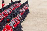 The Colonel's Review 2012: No. 1 Guard (Escort for the Colour), 1st Battalion Coldstream Guards, during the March Past.. Horse Guards Parade, Westminster, London SW1,  United Kingdom, on 09 June 2012 at 11:43, image #340