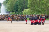 The Colonel's Review 2012: The March Past - The guards are changing their formation, turning left and forming long double rows of guardsmen again.. Horse Guards Parade, Westminster, London SW1,  United Kingdom, on 09 June 2012 at 11:47, image #356