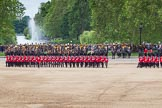 The Colonel's Review 2012: The March Past - The guards are changing their formation, turning left and forming long double rows of guardsmen again.. Horse Guards Parade, Westminster, London SW1,  United Kingdom, on 09 June 2012 at 11:47, image #357