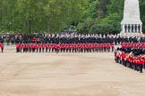 The Colonel's Review 2012: The March Past - The guards are changing their formation, turning left and forming long double rows of guardsmen again. The gaps are nearly closed.. Horse Guards Parade, Westminster, London SW1,  United Kingdom, on 09 June 2012 at 11:47, image #358