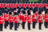 The Colonel's Review 2012: The Band of the Welsh Guards. In the centre the Senior Director of Music, Lieutenant Colonel S C Barnwell, Welsh Guards.. Horse Guards Parade, Westminster, London SW1,  United Kingdom, on 09 June 2012 at 11:48, image #364