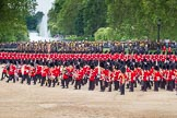 The Colonel's Review 2012: The Massed Bands are moving from the centre of Horse Guards Parade towards their initial position on the western side.. Horse Guards Parade, Westminster, London SW1,  United Kingdom, on 09 June 2012 at 11:49, image #370
