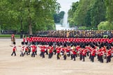 The Colonel's Review 2012: The Massed Bands are moving from the centre of Horse Guards Parade towards their initial position on the western side.. Horse Guards Parade, Westminster, London SW1,  United Kingdom, on 09 June 2012 at 11:49, image #371