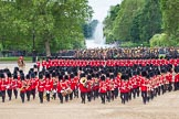 The Colonel's Review 2012: The Massed Bands are moving from the centre of Horse Guards Parade towards their initial position on the western side.. Horse Guards Parade, Westminster, London SW1,  United Kingdom, on 09 June 2012 at 11:49, image #373