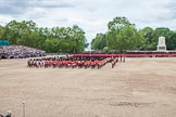 The Colonel's Review 2012: The Massed Bands are moving from the centre of Horse Guards Parade towards their initial position on the western side.. Horse Guards Parade, Westminster, London SW1,  United Kingdom, on 09 June 2012 at 11:49, image #374