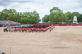 The Colonel's Review 2012: The Massed Bands have moved from the centre of Horse Guards Parade to their initial position on the western side.. Horse Guards Parade, Westminster, London SW1,  United Kingdom, on 09 June 2012 at 11:49, image #375
