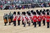 The Colonel's Review 2012: Drummers and Irish Pipers on the western side of the block of Massed Bands.. Horse Guards Parade, Westminster, London SW1,  United Kingdom, on 09 June 2012 at 11:50, image #377
