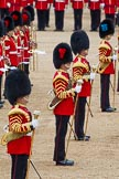 The Colonel's Review 2012: Four of the five Drum Majors on parade, in focus: Drum Major Scott Fitzgerald, Coldstream Guards.. Horse Guards Parade, Westminster, London SW1,  United Kingdom, on 09 June 2012 at 11:50, image #379