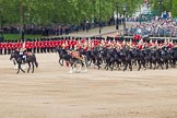 The Colonel's Review 2012: The Mounted Bands of the Household Cavalry start moving during the March Past.. Horse Guards Parade, Westminster, London SW1,  United Kingdom, on 09 June 2012 at 11:50, image #383